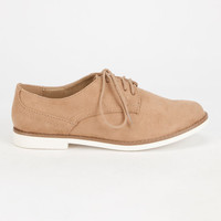 Soda Tiller Womens Oxford Shoes Camel  In Sizes