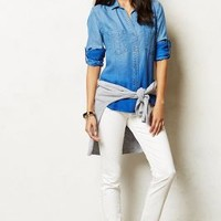 Ombre Chambray Buttondown by Cloth & Stone Light Denim Xs Tops