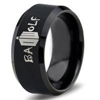 Dr Who Ring Doctor Time Lord Design Bad Wolf Gallifrey Symbol Ring Mens Geek Sci Fi Jewelry Boys Girl Women Ring Fathers Day Gift Holiday Tungsten Carbide 267