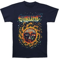 Sublime Men's  Sun Solar Burst Mens Soft T Slim Fit T-shirt Navy