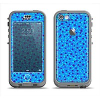 The Small Scattered Polka Dots of Blue Apple iPhone 5c LifeProof Nuud Case Skin Set