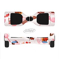The Pink Sweet Treats Pattern Full-Body Skin Set for the Smart Drifting SuperCharged iiRov HoverBoard