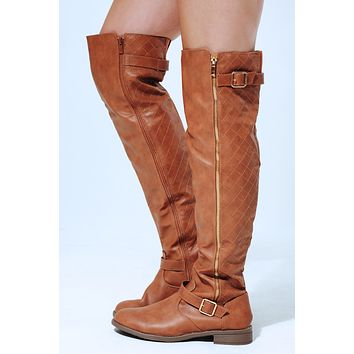 Get To You Boots: Cognac