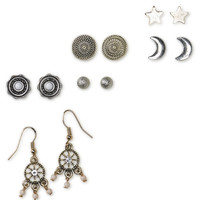 Celestial Stud And Drop Earring 6-Pack