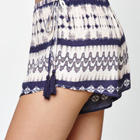Honey Punch Tassel Trim Soft Shorts at PacSun.com
