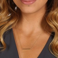 Gold Bar Dainty Necklace