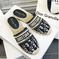 Dior Granville Mule Fisherman Shoes Slippers Shoes