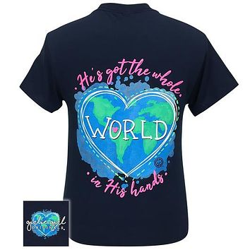 Girlie Girl Originals Preppy Whole World In His Hands Covid-19 T-Shirt