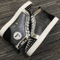 Christian Louboutin Cl Lou Spikes Orlato Sneakers Reference 9 - Best Online Sale