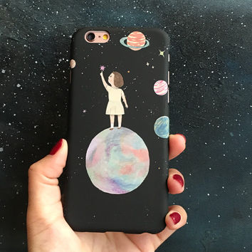Space Odyssey iPhone 7 7Plus & iPhone se 5s 6 6 Plus Case Cover +Gift Box-165