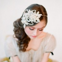 Bridal headband rhinestone and crystal bridal hair  by myrakim