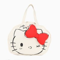 Hello Kitty Sculpted Canvas Tote: Wink