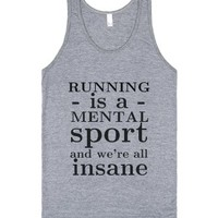 Running is All Mental-Unisex Athletic Grey Tank