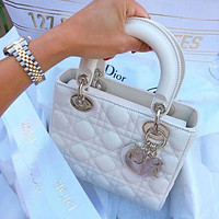 DIOR GG Women Shopping Leather Tote Handbag Shoulder Bag Purse Wallet Set bag