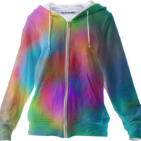 Tie Dye Zip Up Hoodie created by Christy Leigh | Print All Over Me