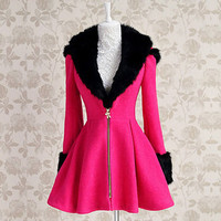 Pretty In Pink Coat with Hoodie