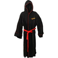Queen Men's  Crest Bath Robe Black