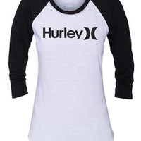 One & Only Perfect Raglan Tee - Women's T-Shirts   Hurley