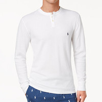 Polo Ralph Lauren Men's Lightweight Waffle-Knit Thermal Henley Shirt | macys.com