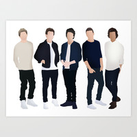 One Direction Art Print by kikabarros