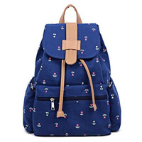 Cute Canvas School Backpack with Anchor