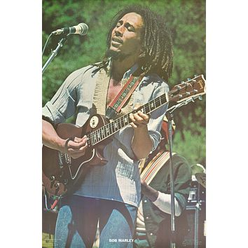 """Poster: Bob Marley - On Stage 1977 (22""""x34"""")"""