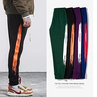 Best quality 2017 Vintage Side Stripe Pants Fashion hip hop Elastic Waist Joggers pants Casual Sweatpants Mens Trousers