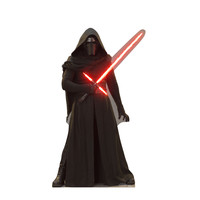Kylo Ren Lightsaber Up Force Awakens Cardboard Standup