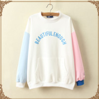Beautiful Enough Color Block Sweater sold by Moooh!!