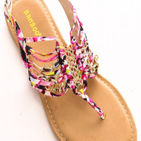 Out On The Town Sandal - Fuchsia