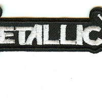 Metallica Iron-On Patch White Letters Logo