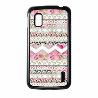 Girly Floral Tribal Andes Aztec Nexus 4 Case