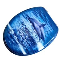 Dolphins MDF No Slow Descent Toilet Seat
