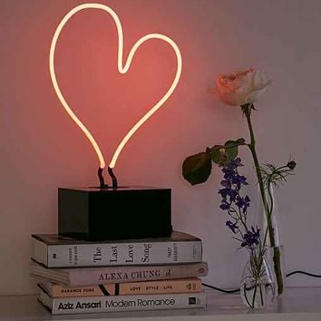 Neon Mfg. Heart Neon Table Lamp