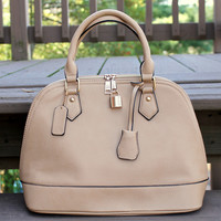 Tan Bowling Handbag