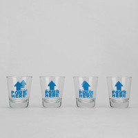 Urban Outfitters - In Case Of Emergency Shot Glass - Set Of 4