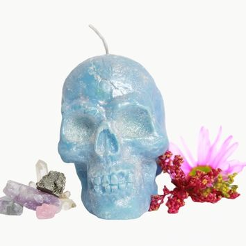 Crystal Dragons Blood Skull Candle