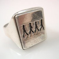 The Beatles Abbey Road John Lennon paul McCartney Ring Solid Sterling Silver 925