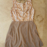 Whimsy & Sparkle Dress in Taupe [3530] - $36.00 : Vintage Inspired Clothing & Affordable Fall Frocks, deloom | Modern. Vintage. Crafted.