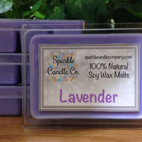 Soy Wax Melts - LAVENDER Scented Tarts - 1 package - Clean Scent