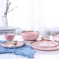 Cool Tool  Pink Ceramic Dinnerware  Bowl & Dish Plates