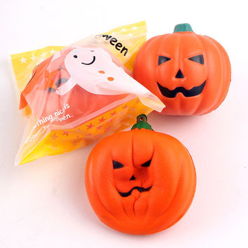 Squishy Pumpkin 7cm Slow Rising With Packaging Soft Collection Halloween Decor Gift Toy