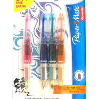 Papermate Mini Fountain Pens Pack of 4 - Pink, Orange, Blue and Green 1854255-514