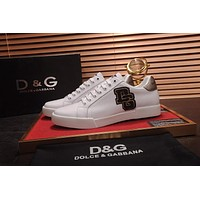 D&G Dolce & Gabbana Men's Leather Fashion Sneakers Shoes