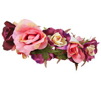 Large Rose Garland - Purple