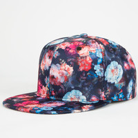 Floral Womens Snapback Hat Navy One Size For Women 25122721001