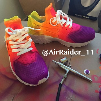 Custom Nike Huaraches Multicolored