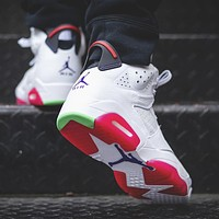 Air Jordan 6 Hare AJ6 Fashionable Women Sport Basketball Shoes Sneakers