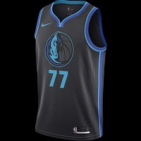 Men's Dallas Mavericks Luka Doncic Nike Anthracite 2018/19 Swingman Jersey City Edition - Best Deal Online