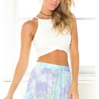Turn It Up Crop top in white
